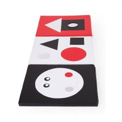 "Soft Play Sensory Mat ""Black, Red and White"""