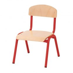 21cm Stackable Chairs with Metal Legs