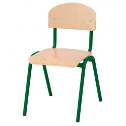 38cm Stackable Chairs with Metal Legs