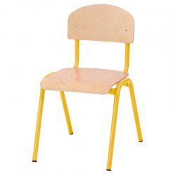 35cm Stackable Chairs with Metal Legs