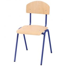 31cm Stackable Chairs with Metal Legs
