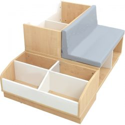 """Bookcase with seating and storage compartments """"COMFO"""""""