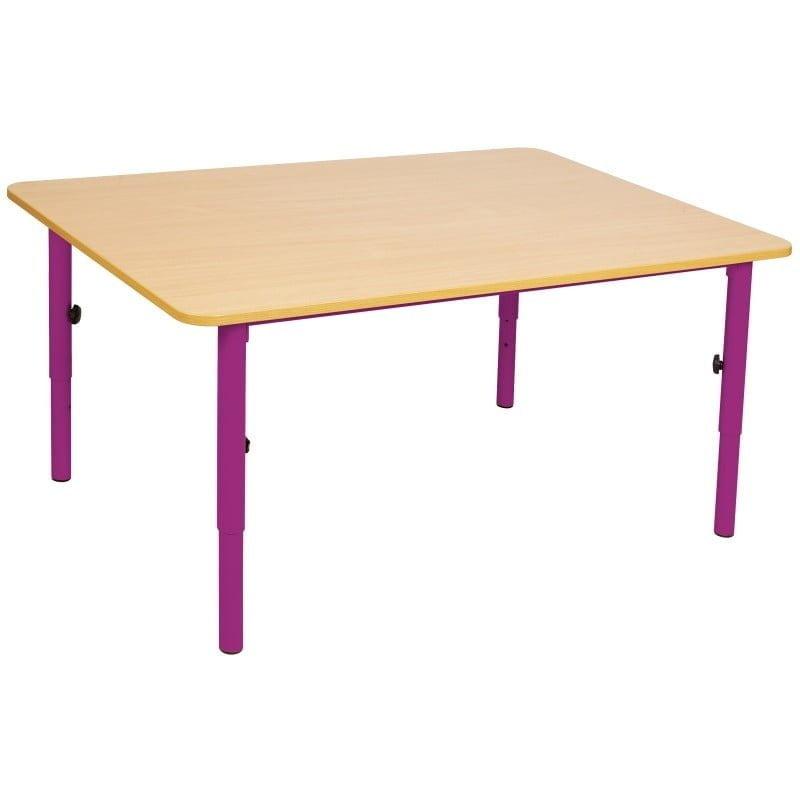 187 Wooden Table 59 76cm Adjustable Metal Legs