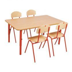 Wooden Table 59-76cm adjustable metal legs