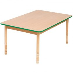 Height Adjustable Wooden Table – Rectangular