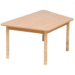 Height Adjustable Wooden Table – Trapezoid
