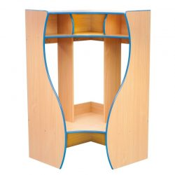 Cloakroom Coat Hanger with Dividers – Corner 4