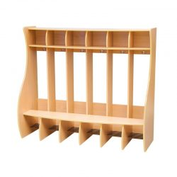 Cloakroom Coat Hanger with Dividers – 6