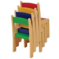 38cm Wooden Stacking Chair