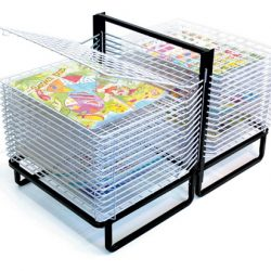 30 SHELF SPRING LOADED FLOOR DRYING RACK