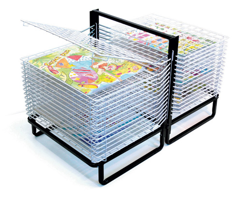 C  Shelf Spring Loaded Floor Drying Rack