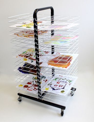 C1182-Drying-Rack-Mobile-40-Small-Shelf