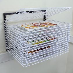 DRYING RACK 15 SHELF WALL MOUNT SPRING LOADED