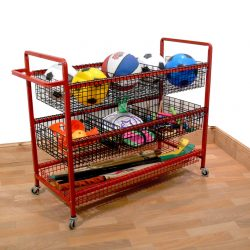 P E STORAGE TROLLEY