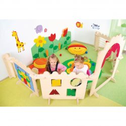 Complete set includes: 2x Wall Ties, 1x Entrance, 1x Tapestry, 1x Fence, 1x Shapes, 1x Abacus, 1x Maze
