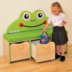 Nature Small Storage/Seating Unit – Green Edging