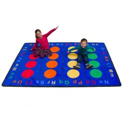 Abc Dots Rectangle Rug