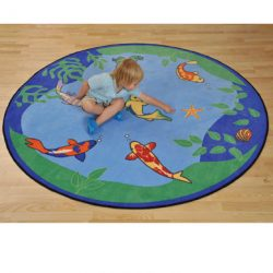 Fish and Frog Gathering Rug
