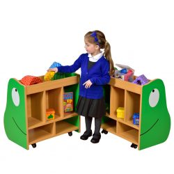 Frog Book Store with Green Trays