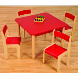 Height Adjustable Square Table