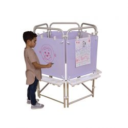 5 sided Easel Set (with 5 Dry Wipe boards)