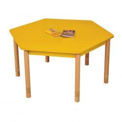 Height Adjustable Hexagon Table