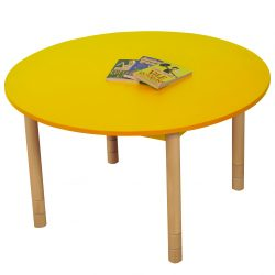 Height Adjustable Round Table