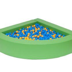 Corner ball pit green