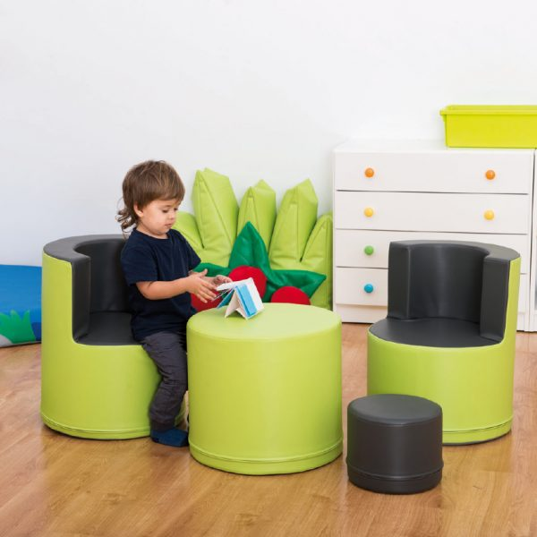 Nursery seating set grey-green