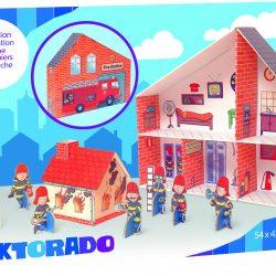 Cardboard Fire Station