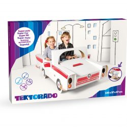 Large Cardboard Car with Stickers