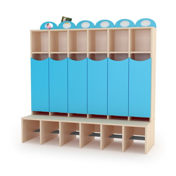 Cloakroom unit 'Wave' with doors and photo frame