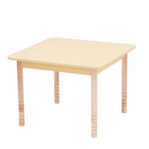 Height Adjustable Wooden Table – Square