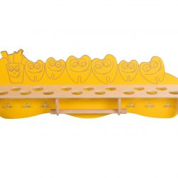 Bathroom shelf – Cup & Teeth (yellow)