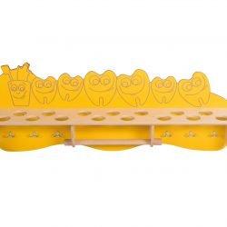 Bathroom shelf – Cup & Teeth (yellow)