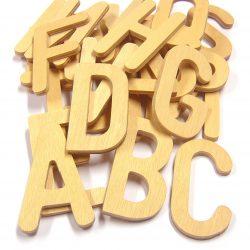 Upper Case Wooden Letters, Set of 26