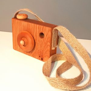 wooden toy camera, toy camera