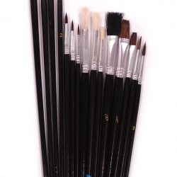 Assorted Artist Brush, Set of 15