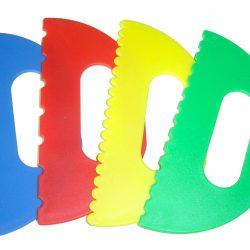 Plastic Paint Scrapers, Set of 4