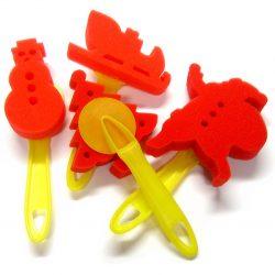 Christmas Sponge Dabbers, Set of 4