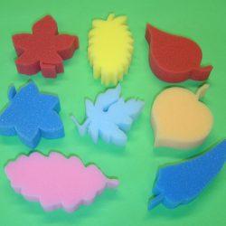 Foam Leaf Shapes, Set of 8