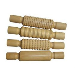 Wooden Rolling Pin, Set of 4