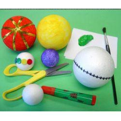 Polystyrene Balls Mix, Set of 75
