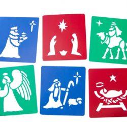 Nativity Stencils, Set of 6