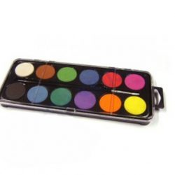 12-disc Watercolour Set With Brush