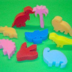 Foam Dinosaur Shapes, Set of 9