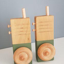 Wooden Walkie Talkies set of 2