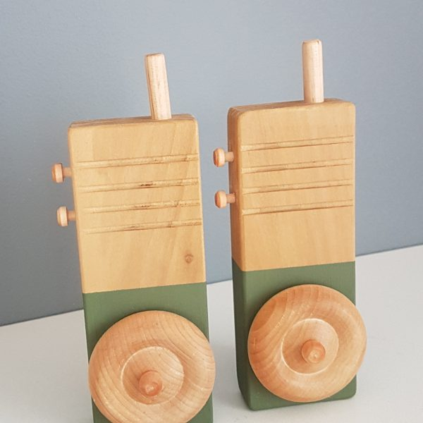 wooden walkie talkie, handmade wooden toy, walkie talkie, radio