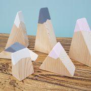 wooden mountains, small world, toy mountains
