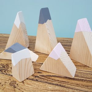 wooden mountains, small world, toy mountains
